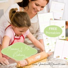 """FREE """"Mommy and Me"""" Baking Printables! Includes Free Grocery Lists, Free Baking Gift Tags, and Free Recipe Cards!"""