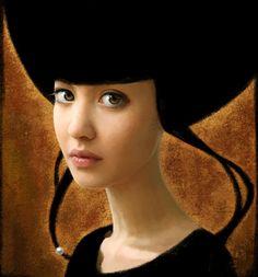 """Peinture numérique - série """"La Perle"""" - modèle Chloé - cali rezo 2012"""