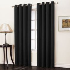 Sun Zero Hanson Room Darkening Curtain - 50'' x 84''