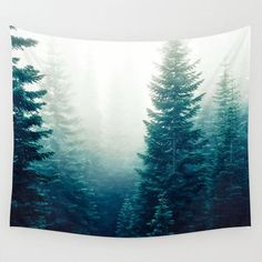 Wall Tapestry, Tree Tapestry, Wall Hanging, Evergreen Trees Forest Woods, Nature Wall Art, Large Photo Wall Art,Modern Tapestry,Home Decor