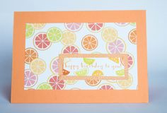 Tutti Frutti Suite and Fruit Basket Stamps coming in the Occasions Catalogue in January Here you see the Tutti Frutti Designer Series Paper and the Peekaboo Peach card stock and ink. Food Cards, Tutti Frutti, January 2018, Wire Baskets, Ink Pads, Recipe Cards, Stamping, Card Ideas, Card Stock
