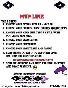 MVP Uniform Building Instructions