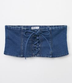 Teen Fashion Outfits, Mode Outfits, Sexy Outfits, Fashion Sewing, Denim Fashion, Skirt Fashion, Jeans Refashion, Denim Corset, Denim Ideas