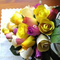 Half blooming yellow wooden roses definitely say that the sender is keen on friendship alone. Wooden Roses, Rose Crafts, Everlasting Love, Bouquet, Bloom, Yellow, Create, Flowers, Plants