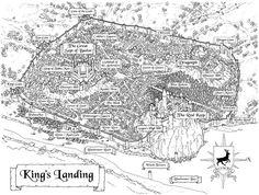 Game of Thrones - kings landing map Fantasy City, Fantasy Castle, Fantasy Map, Medieval Fantasy, King's Landing Map, Kings Landing, Game Of Thrones King, Arte Game Of Thrones, Iron Throne