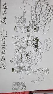 うちの三姉妹 #松本ぷりっつ #art#クリスマスカード #小学生の絵 | 絵 ...