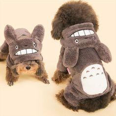 Studio Ghibli Totoro Christmas Cosplay Cute Fun Costume Pet Puppy Cat Dog Hoodie
