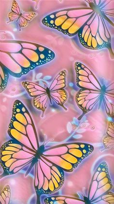 Pastel butterflies Butterfly Background, Butterfly Wallpaper, Phone Backgrounds, Iphone Wallpaper, Magical Photography, Butterfly Pictures, Halloween, Pretty Pictures, Pastel
