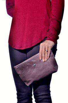 Blythe Leonard , Made in USA Lavender Makeup Bag