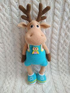 PDF Олень Рудольф. Бесплатный мастер-класс, схема и описание для вязания игрушки амигуруми крючком. Вяжем игрушки своими руками! FREE amigurumi pattern. #амигуруми #amigurumi #схема #описание #мк #pattern #вязание #crochet #knitting #toy #handmade #поделки #pdf #рукоделие #олень #олененок #лось #deer #elk