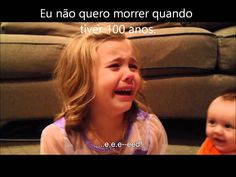 Girl cries as she doesn`t want her little brother to grow up  /   Menina chora ao descobrir que seu irmão irá crescer