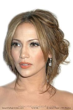 Jennifer Lopez Half Up Half Down Loose Semi Formal Hairstyle