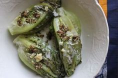 """Coconut Milk Braised Lettuce with Ginger, Garlic and Pepper  (sub silken tofu or cashew cream for ghee, veg """"fish"""" sauce or nori for fishy flavor)"""