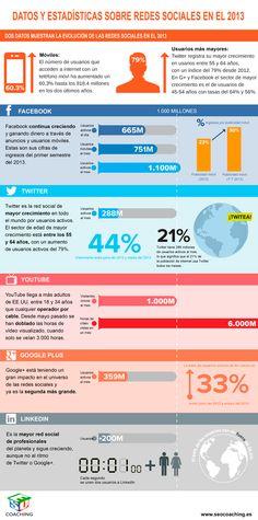 Las Redes Sociales en 2013 vía: www.seocoaching.es  #infografia #infographic #socialmedia