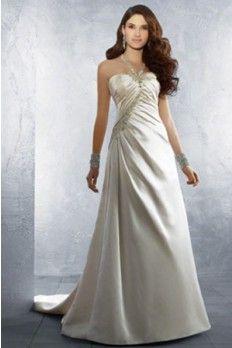 Satin Fabric Mermaid Silhouette With Halter Neckline Wedding Dress