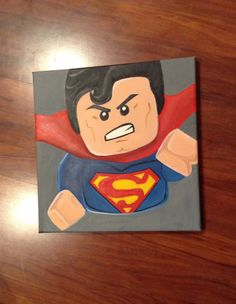 Lego superman canvas artwork etsy art wallart kids by RTMDesigns