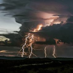 """. Storm Clouds.  Photography by @ (DARRELL CRISP). Thunderstorm captured at Big Bend National Park. #big_bend #landscape #lightning"""