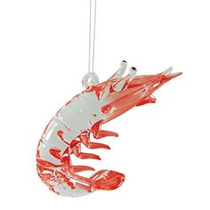 Glass Shrimp Christmas Ornament >>> More info could be found at the ...