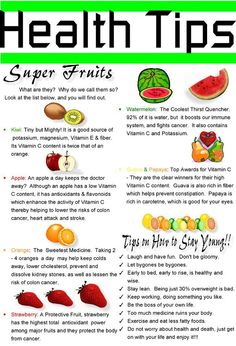 Super Fruits Health Tips.