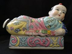 Vintage Chinese Famille Rose Porcelain Box by ArtsCollectiblesbyKT, $269.00