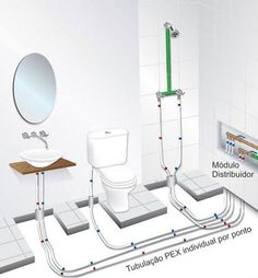 bathroom plumbing – Design is art Bathroom Plans, Bathroom Plumbing, Bathroom Toilets, Basement Bathroom, Bathroom Flooring, Pex Plumbing, Barn Bathroom, Bedroom Floor Plans, Bathroom Design Small