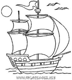 Glass Sticker patterns, dyes, coloring books, stencils, glass painting, boats Easy Drawings For Kids, Drawing For Kids, Art For Kids, Easy Coloring Pages, Coloring Books, Pirate Quilt, Nautical Quilt, Cool Paper Crafts, Ship Drawing