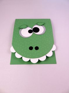 SILLY MONSTER BIRTHDAY Card for Kids Handmade Birthday Greeting Card by PrettyOnPaperShop on Etsy