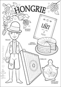 """iColor """"Little Kids Around The World"""" ~ Hungary Geography For Kids, Teaching Geography, World Geography, Colouring Pages, Coloring Books, World Thinking Day, Kids Around The World, Printable Coloring, Adult Coloring"""
