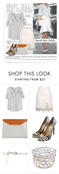 """""""Heart, soul and fashion"""" by breathing-style ❤ liked on Polyvore featuring WithChic, Relaxfeel, Smythson, Christian Louboutin, Acne Studios and Ice"""