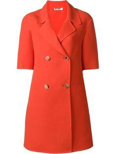 JIL SANDER Short Sleeve Double Breasted Coat. #jilsander #cloth #coat