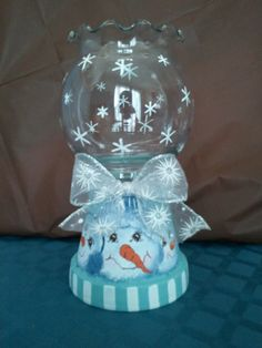 Large, snowman themed candle holder - on sale in my craft store