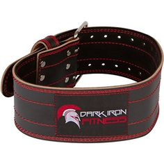 Dark Iron Fitness Genuine Leather Pro Weight Lifting Belt for Men and Women - Durable Comfortable and Adjustable with Buckle - Stabilizing Lower Back Support for Weightlifting Best Weight Lifting Belt, Weight Lifting Workouts, Lower Back Support, Gym Bag Essentials, Workout Belt, Thing 1, No Equipment Workout, Training Equipment, Fitness Equipment