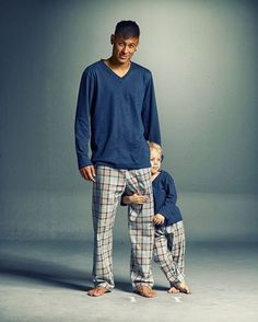 This pajama outfit is very cute for father and son!