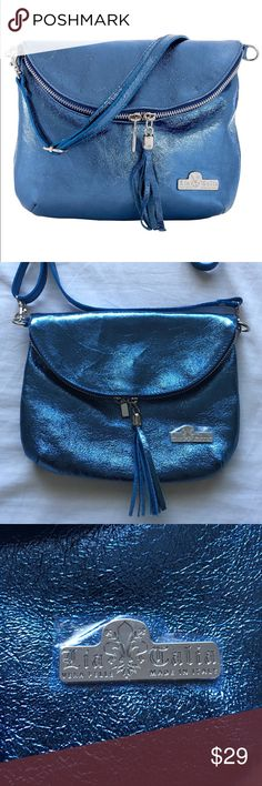 e717b2f62f3 LiaTalia crossbody metallic blue LiaTalía crossbody -Metallic blue -made in  Italy -new without
