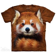 Red Panda Portrait T-Shirt by David Penfound | TheMountain.com