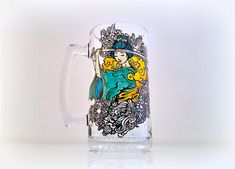 Japanese Samurai Beer Glass Beer Mug Fathers by NocturnalPandie