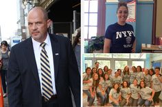 """NYC Teachers Wear Shirts to Support Cops After Cop Murders Black Man. The smiling white face of the school to prison pipeline, white people showing support for white cops who kill unarmed black people. The latest group to hop on this bandwagon is New York City public school teachers who, after expressly being told to refrain from wearing """"inappropriate apparel"""" / pro-cop shirts to school, wore NYPD shirts, anyway."""