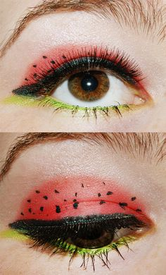 26fb5fcedd286 One of my first try to be creative on my eyes. Juicy Watermelon Eye Makeup