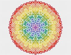 KIT Mandala Cross Stitch Kit  moderno Original punto
