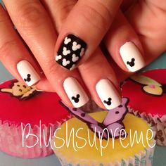 Mickey Mouse nails  cutie