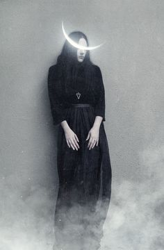 Black and white photography. Witch embracing the Crescent moon Samhain, Yennefer Of Vengerberg, Arte Obscura, Season Of The Witch, Witch Aesthetic, Dark Photography, Sadness Photography, Macabre Photography, Dark Beauty