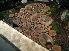 tree round walkway