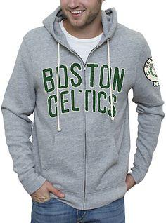 NBA Boston Celtics Full Zip Hoodie with Applique  $85.00  www.junkfoodclothing.com