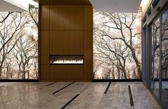 Azure, New York (luxury apartments, tree photo superimposed on glass walls)