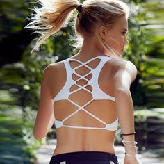 Women's Back Cross Yoga Running Sports Activewear Bra