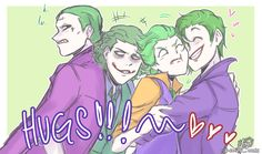AU were Injustice, Suicide Squad, Dark Knight and Lego Jokers are all brothers. No idea why but either way I like the fan art.