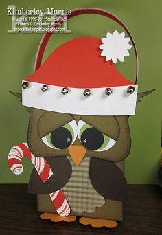 Too Cute - Santa Owl! Christmas Owls, Christmas Crafts, Handmade Christmas, Xmas Cards, Holiday Cards, Punch Art Cards, Paper Punch, Owl Card, Owl Crafts