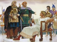 """""""Alexander the Great meets Celtic warriors, late 4th century BC"""", Angus McBride"""