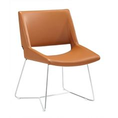 Sleek and sexy like from a sci-fi movie, the Regan dining chair is the future of style and comfort. Seat is a comfortable leatherette on a chrome base. Terracota, Dining Chairs, Side Chairs, Area Rugs, Chrome, Modern, Pin, Furniture, Design