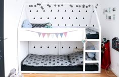 House loft bed building instructions (IKEA Hack) and some great ideas for the children& room - Ikea Kura house loft bed building instructions and some great ideas for the children& room - Kura Ikea, Ikea Bed, Ikea Loft, Ikea Hack Kids, Ikea Hacks, Baby Boy Nurseries, Kidsroom, My New Room, Bunk Beds